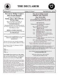 Vol. 55, Issue 1: Spring 2012 - New Jersey Bridge League