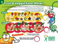 Fruit & Veggie Chart Certificate