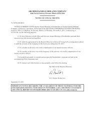 2011 Proxy Statement - ADM