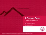 A Premier Saver - Product Presentation (English)