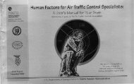 Human Factors for Air Traffic Control Specialists: - National ...