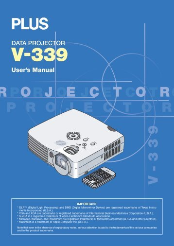User Manual - PLUS Corporation of America