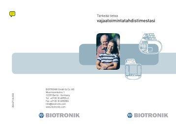 Tärkeää tietoa vajaatoimintatahdistimestasi.pdf - Fenno Medical Oy