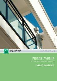 Rapport annuel - Pierre Avenir - 2011 - BNP Paribas REIM