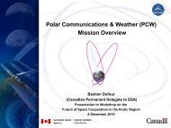 Polar Communications & Weather - Institute for Environmental Security