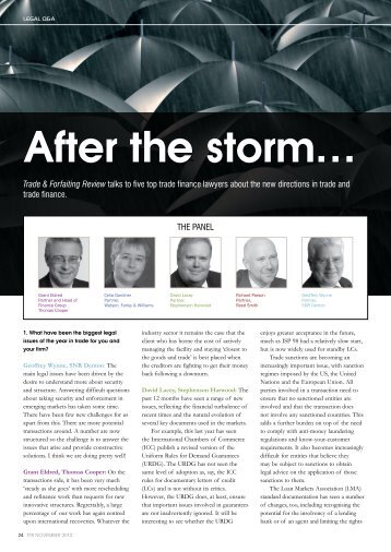 After the storm… - Watson, Farley & Williams
