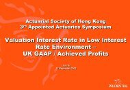 Valuation Interest Rate in Low Interest Rate Environment - Actuarial ...