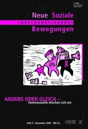 Vollversion (7.49 MB) - Forschungsjournal Neue Soziale Bewegungen