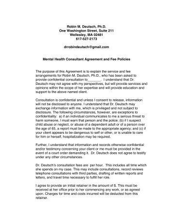 agreement for litigant consultation - MA AFCC