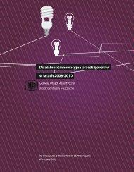 Działalność innowacyjna przedsiębiorstw w latach 2008-2010 ...