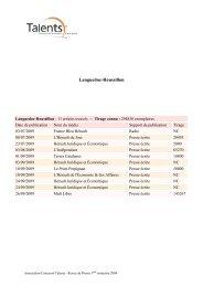 Languedoc-Roussillon - Concours Talents