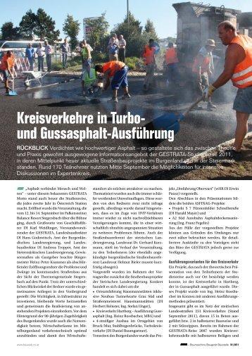 Kreisverkehre in Turbo- und Gussasphalt-Ausführung - Gestrata