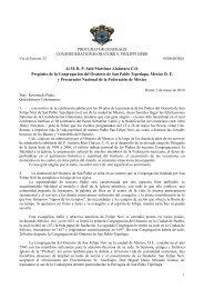 Al MRP Said Martínez Alcántara CO Prepósito de la Congregación ...