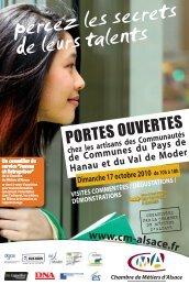 PORTES OUVERTES - Office de Tourisme du Pays de Hanau & du ...