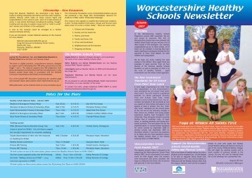 Worcestershire Healthy Schools Newsletter - Worcestershire County ...