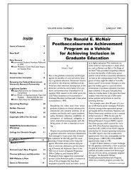 The Ronald E. McNair Post-baccalaureate Achievement Program as ...