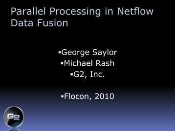 Parallel Processing in Netflow Data Fusion - Cert