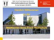 Informationsabend zum Ganztag für das Schuljahr 2012/2013
