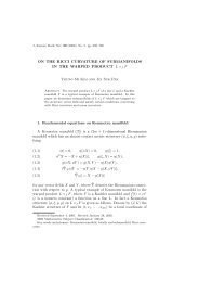 ON THE RICCI CURVATURE OF SUBMANIFOLDS IN THE ...