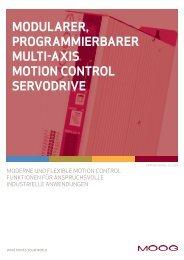 modularer, programmierbarer multi-axis motion control ... - Moog