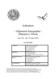 Aufbaukurs - Allgemeine Sonographie - Abdomen u. Thorax