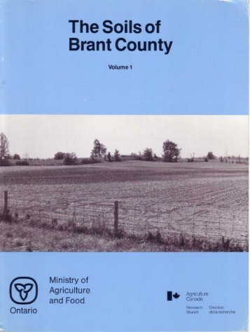 The Soils of Brant County - Agriculture and Agri-Food Canada