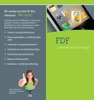 Schnelle, praxisgerechte Beratung Professionelle Medien - FDF Berlin