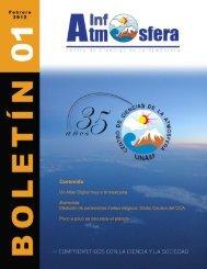Boletín 01 - Centro de Ciencias de la Atmósfera - Universidad ...