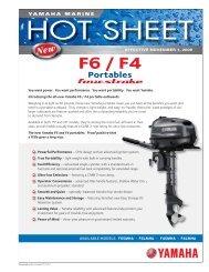 F6_F4 Hot Sheet.indd - Yamaha