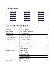 Executive Councils EXECUTIVE COUNCIL (2009-2012) - NTUC
