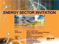 ENERGY SECTOR INVITATION - ESETA