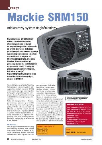 Mackie SRM150 - Music Info