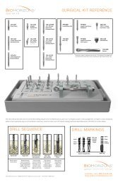SURGICAL KIT REFERENCE DRILL SEQUENCE ... - BioHorizons