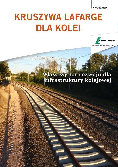 Kruszywa Lafarge dla kolei - ulotka