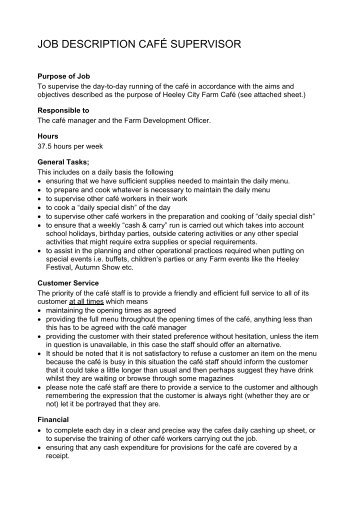 Production Supervisor Job Description Brief Description. wong solo ...