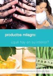 Guía Productos milagro: ¿Qué hay en su interior? - Cecu