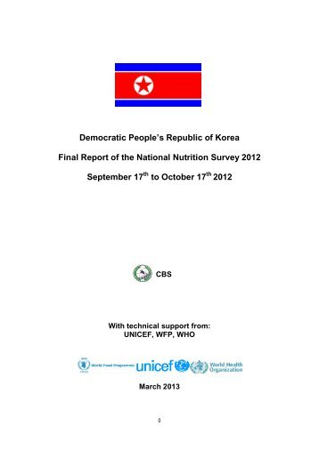 DPRK Final Report of the National Nutrition Survey - ReliefWeb