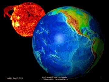 Climate Models of Earth and Planets