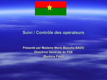 Contrôle et suivi au Burkina Faso