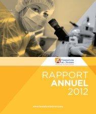 Rapport d'activité 2012 - Fondation de l'Avenir