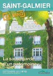 Le Mag n°12 - Septembre 2012 - Site officiel - Mairie de Saint-Galmier