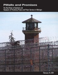 Pitfalls and Promises - Michigan Corrections Organization
