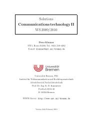 Solutions Communications technology II WS 2009/2010 - Universität ...