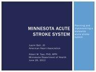 minnesota acute stroke system - National Rural Health Resource ...