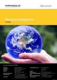 pensionsobligation stibor - Mangold Fondkommission