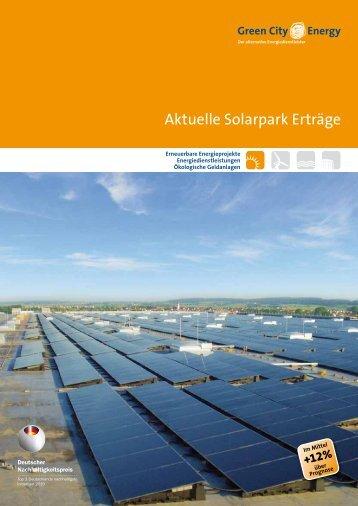 Solar-Ertragswerten von durchschnittlich 12 Prozent über Prognose