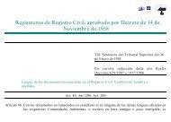 Reglamento de Registro Civil, aprobado por Decreto de 14 de ...