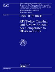 GGD-96-17 Use of Force: ATF Policy, Training and Review Process ...