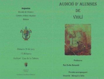 Dimarts 23 de juny - Centre Artístic Musical de Bétera