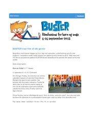 BUSTER viser film af alle genrer - Skoletjenesten